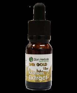 Zion Herbals Liquid Kratom 24k GOLD Extract