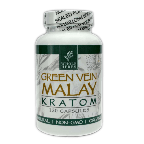 Whole Herbs Green Vein Malay Kratom Capsules